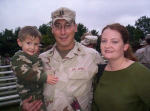 Welcome home ceremonies after 10 months in Iraq.